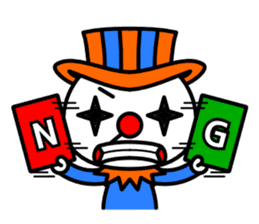 Red nose and one eyebrow circus sticker #685629