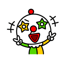 Red nose and one eyebrow circus sticker #685630