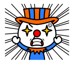 Red nose and one eyebrow circus sticker #685632