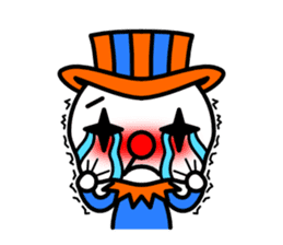 Red nose and one eyebrow circus sticker #685633