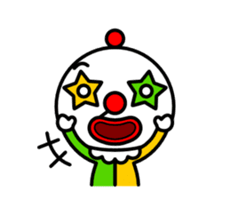 Red nose and one eyebrow circus sticker #685634