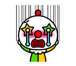 Red nose and one eyebrow circus sticker #685635