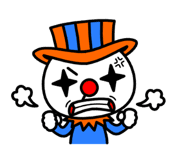 Red nose and one eyebrow circus sticker #685637