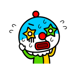 Red nose and one eyebrow circus sticker #685643