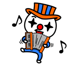 Red nose and one eyebrow circus sticker #685645