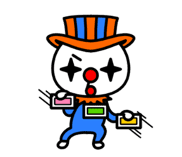 Red nose and one eyebrow circus sticker #685648