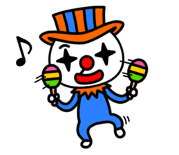 Red nose and one eyebrow circus sticker #685649