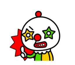 Red nose and one eyebrow circus sticker #685650