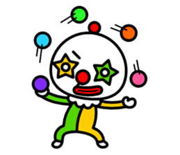 Red nose and one eyebrow circus sticker #685654
