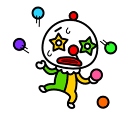 Red nose and one eyebrow circus sticker #685655