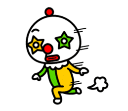 Red nose and one eyebrow circus sticker #685663