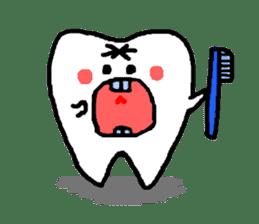 Mr.Tooth! sticker #686095