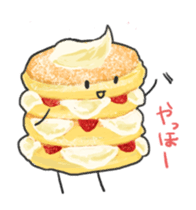 Cute pancakes sticker #686227