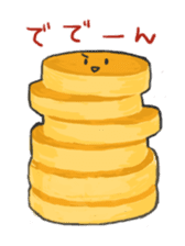 Cute pancakes sticker #686236