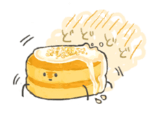 Cute pancakes sticker #686237