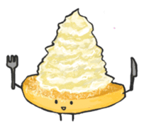 Cute pancakes sticker #686242