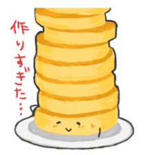 Cute pancakes sticker #686244
