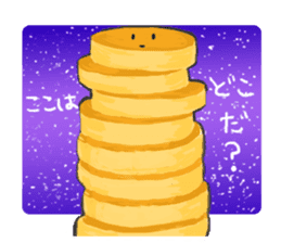 Cute pancakes sticker #686245