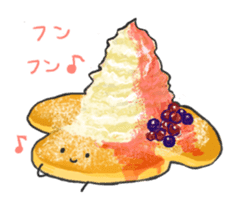 Cute pancakes sticker #686254