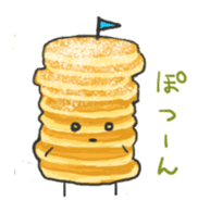 Cute pancakes sticker #686256