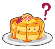 Cute pancakes sticker #686259