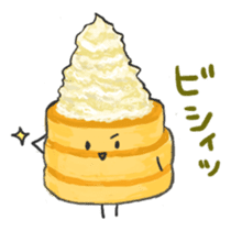 Cute pancakes sticker #686260