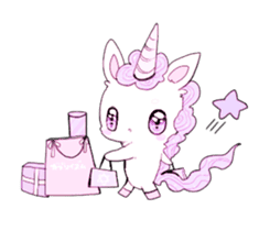 Unicorns & girls sticker #686683