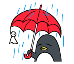 Sticker of penguin inflame sticker #686720