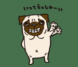 Pug Stickers for Pug Junkies! sticker #686790