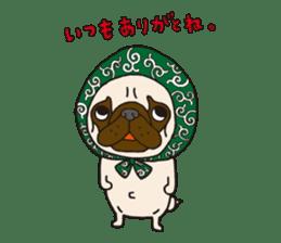 Pug Stickers for Pug Junkies! sticker #686795