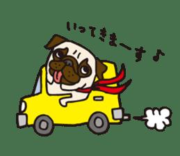 Pug Stickers for Pug Junkies! sticker #686800