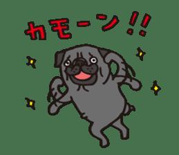 Pug Stickers for Pug Junkies! sticker #686801