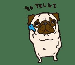 Pug Stickers for Pug Junkies! sticker #686802
