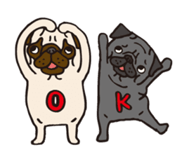 Pug Stickers for Pug Junkies! sticker #686803