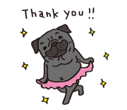 Pug Stickers for Pug Junkies! sticker #686806