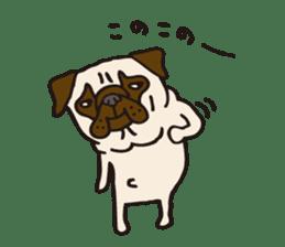 Pug Stickers for Pug Junkies! sticker #686815