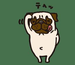 Pug Stickers for Pug Junkies! sticker #686825