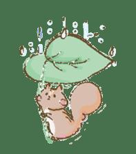 Cawaii-squirrel sticker #687160