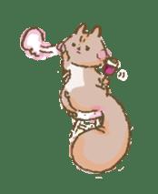 Cawaii-squirrel sticker #687161