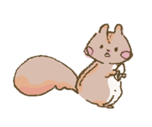 Cawaii-squirrel sticker #687176