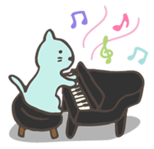 "Pianist Cat ""Nyappi"" sticker #687587"