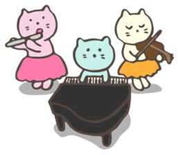 "Pianist Cat ""Nyappi"" sticker #687589"