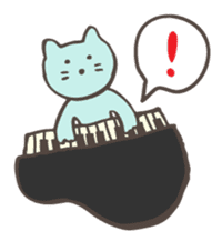 "Pianist Cat ""Nyappi"" sticker #687590"