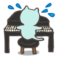 "Pianist Cat ""Nyappi"" sticker #687591"