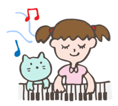 "Pianist Cat ""Nyappi"" sticker #687594"