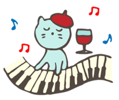 "Pianist Cat ""Nyappi"" sticker #687595"