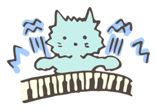 "Pianist Cat ""Nyappi"" sticker #687599"