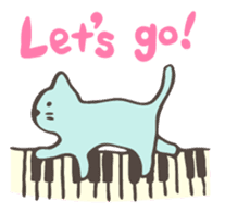 "Pianist Cat ""Nyappi"" sticker #687600"