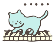 "Pianist Cat ""Nyappi"" sticker #687601"