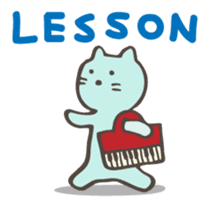 "Pianist Cat ""Nyappi"" sticker #687603"